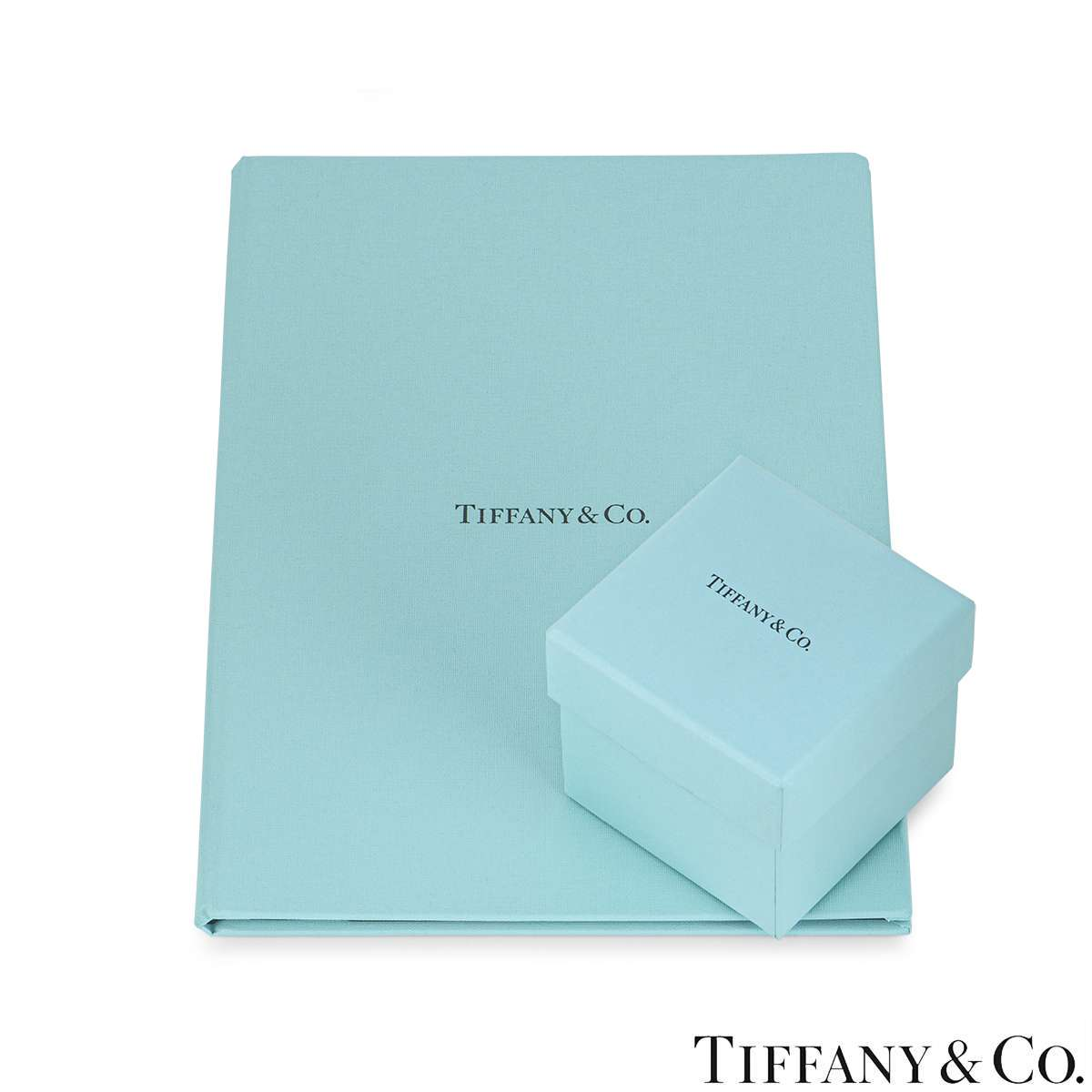 Tiffany & Co. Platinum Diamond Setting Ring 0.97ct I/SI1